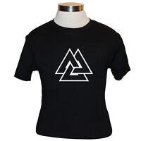Asatru Valknut T-shirt - Black [s M L Xl] Hrungnir Heart Odin Knot Vala