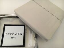 3pc Beekman 1802 Richfield Queen Flat and Pillowcases Cotton Percale