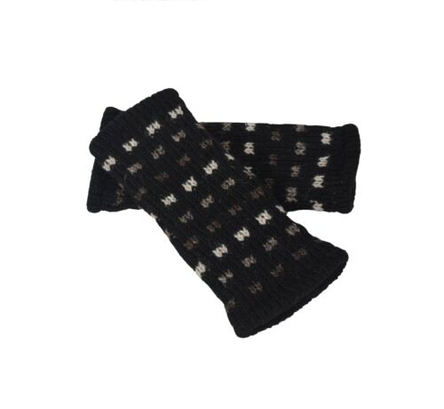 Women/'s Woolen Hand Warmer Fleece Lined Multicolored Dot Pattern Winter Handwarm