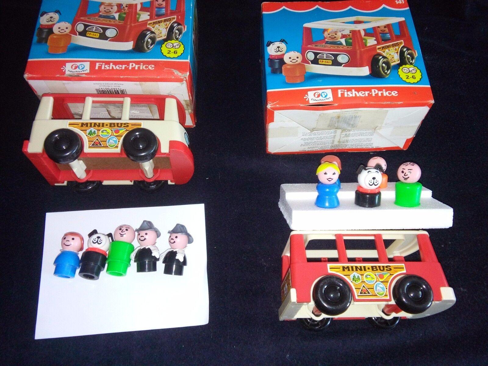 2  Fisher-Price Mini autobus Van Vintage con 5 personaggi  più preferenziale
