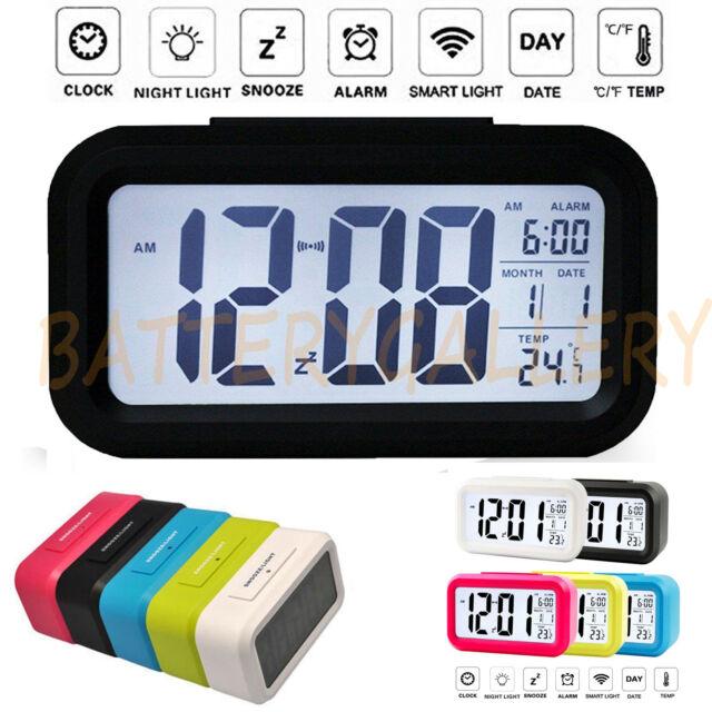 Multifunctional Small Digital LCD Display Blue Backlight Car Clock Thermometer N