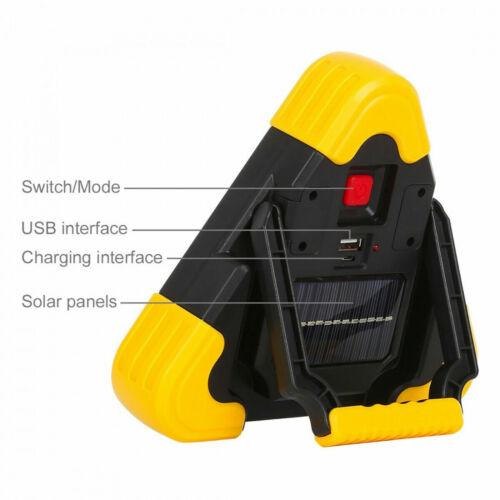 Triangolo per emergenza stradale a led ricarica solare usb soccorso moto auto