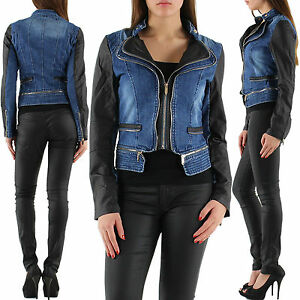 New-Sexy-Women-Clubbing-Biker-Jacket-Ladies-Jeans-Coat-Size-8-10-12-14-Cardigan