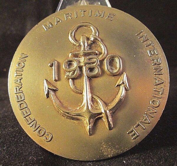 100% De Qualité MÉdaille Confederation Maritime Internationale F.a.m.m.a.c Nice-villefranche S/m Ventes Bon Marché