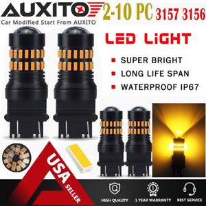 2X AUXITO 3157 3156 4057 T25 LED Amber Yellow Turn Signal Light bulb 48-SMD EOA