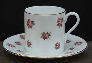 porzellan mokkatasse aynsley fine english bone china rosendesign ebay. Black Bedroom Furniture Sets. Home Design Ideas