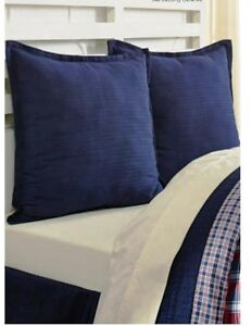 carter navy blue euro sham 100 rib cotton european pillow cover 840528144370 ebay. Black Bedroom Furniture Sets. Home Design Ideas
