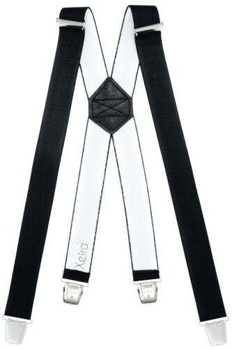 Hochwertige Hosenträger X Design mit XL Clips Extra Lang