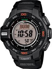 New Casio Men's PRG270-1 Pro Trek Pathfinder Solar Chronograph Black Watch