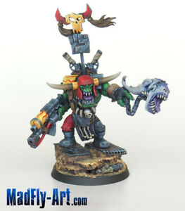 Ork-Warboss-with-Attack-Squig-MASTERS6-painted-metal-MadFly-Art