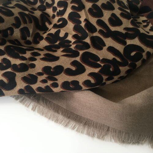 Womens Leopard Print Animal Scarf Chain Print Horse Buckle Scarves Shawl Wrap