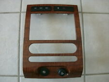 08 Ford Expedition woodgrain dash trim radio bezel