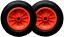 "2x 14/"" ORANGE PNEUMATIC WHEELBARROW TROLLEY WHEEL 3.50-8 TYRE TUBE 20MM BORE"