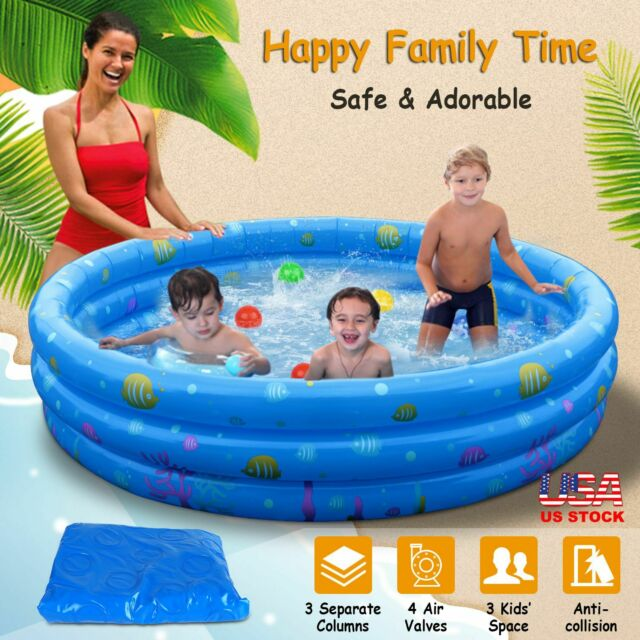 Small Inflatable Swimming Pool Kids Baby Water Play Fun For One Child For Sale Online Ebay