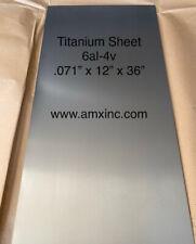 Titanium Sheet 6al 4v 071 X 12 X 36