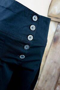 patrizia pepe firenze stoffhose schwarz high waist business festive 34 36 ebay. Black Bedroom Furniture Sets. Home Design Ideas