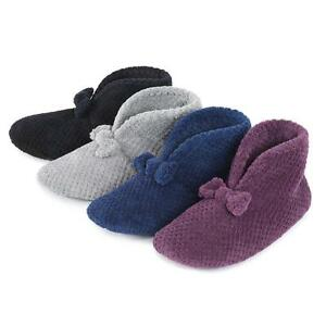06b140a08fac1 Details about Isotoner Ladies Popcorn Bootie Slippers