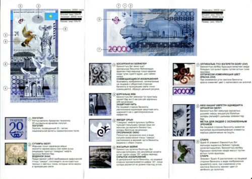 KAZAKHSTAN Tenge 2013 PROMO leaflet booklet folder commemorative 20.000 20000