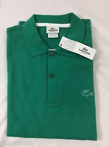 57369e1b154 Lacoste Men s Polo Shirt Regular Fit Brand NWT Arbuste Green Size EU ...