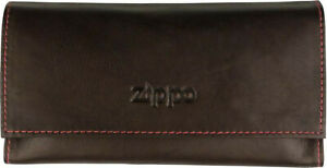 Zippo Leno Bag Leather Mocca/Rubber Lining / Paper Tray / 160 X 80 MM