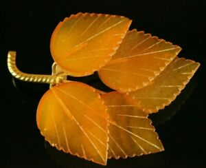Pressed-OLD-Antique-6-7g-Butterscotch-Egg-Yolk-Baltic-Amber-Brooch-C291