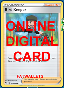 4X Bird Keeper 159//189 Darkness Ablaze Pokemon Online Digital Card