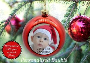 image is loading baby 039 s first christmas personalised bauble baby