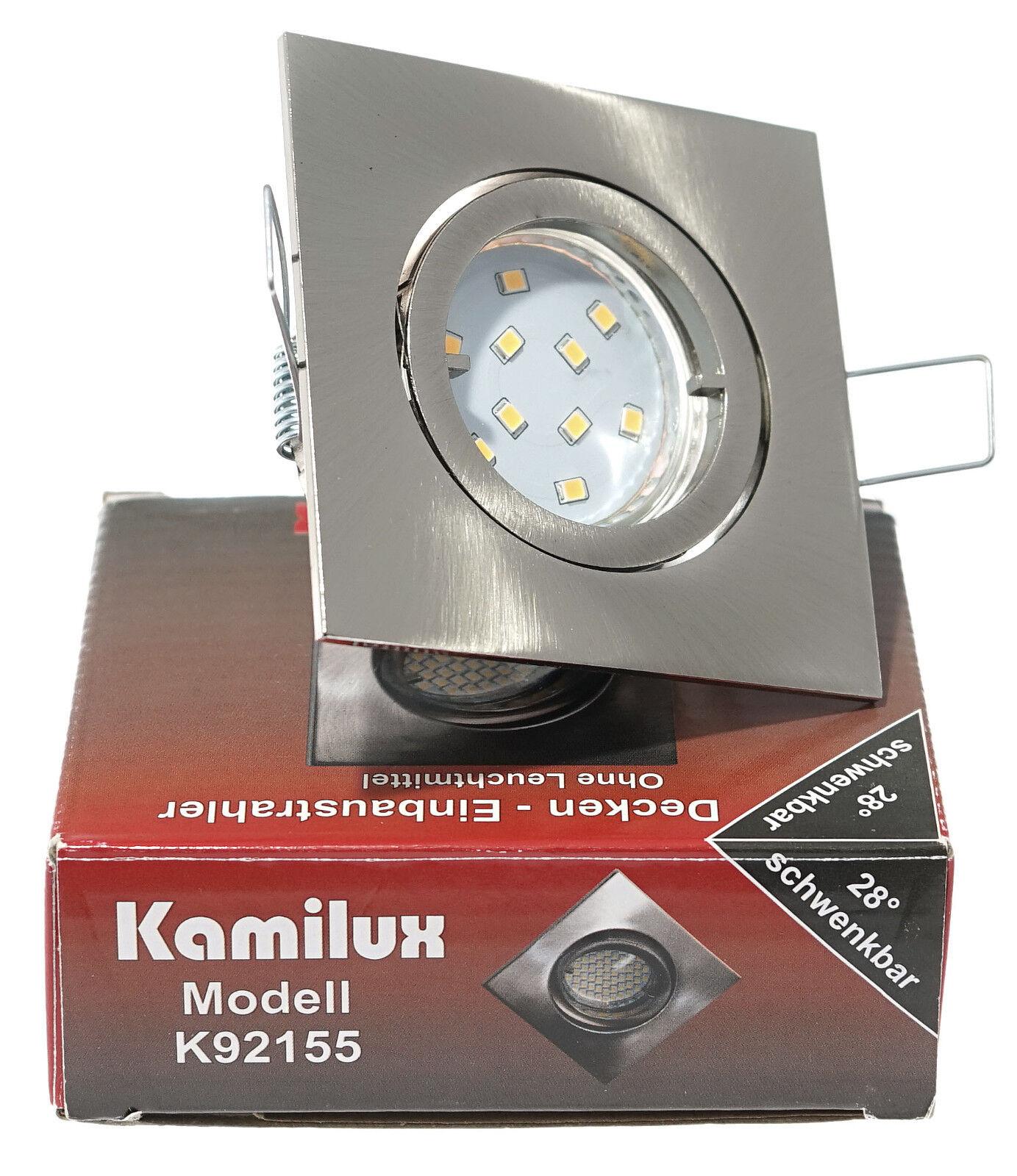 Spotlampe Louis Edelstahl geb. GU10 10er SMD Power LED 3W  25W 230V   | Hohe Sicherheit  | Hohe Qualität und günstig  | Mangelware