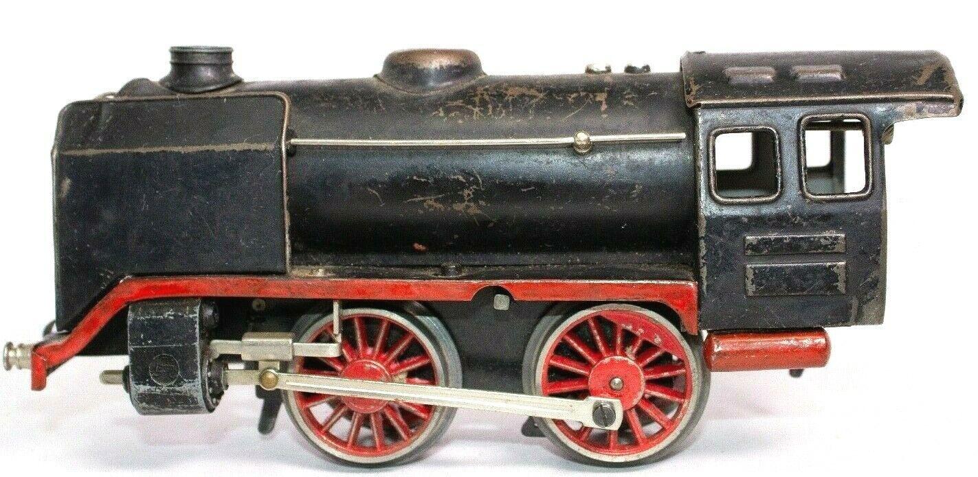 Vintage vor dem Krieg Marklin Groß 0-gauge 0-4-0 Uhrwerk Lokomotive