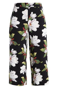 Warehouse MAGNOLIA Printed Trousers Size rrp  LS170 NN 14