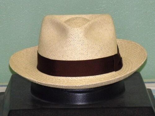 DOBBS TWISTED PANAMA STRAW HOT TO TROT FEDORA HAT