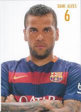 Postal postcard 6 DANI ALVES  jug.  FC BARCELONA 15/16