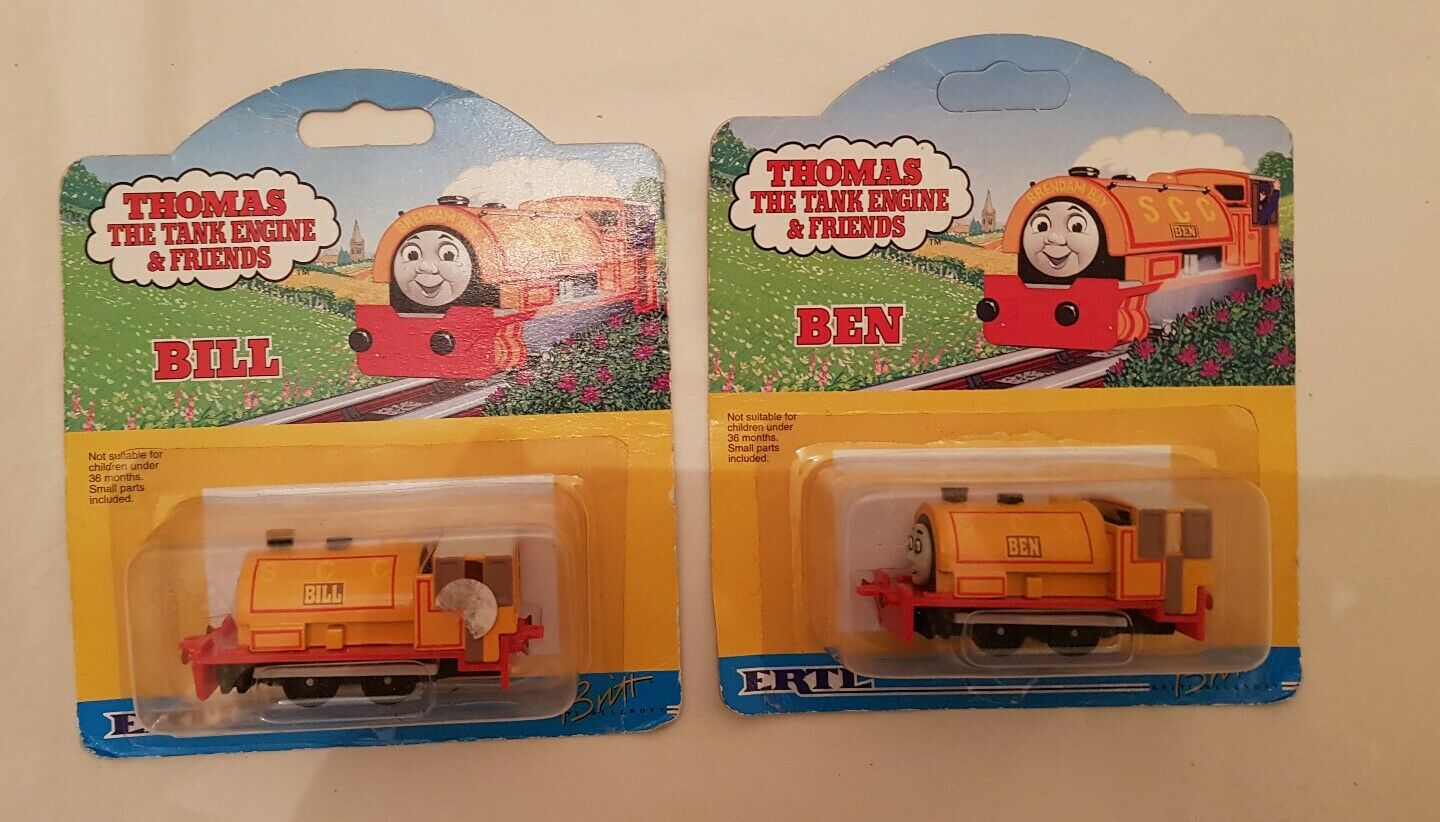 Thomas The Tank  Engine & Friends ERTL DIECAST BILL AND BEN 1993 RARE NEW BOXED