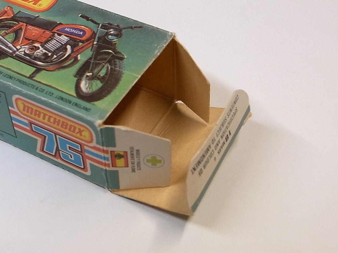 Matchbox Matchbox Matchbox Lesney 18 Hondarora originale Box     Modell Honda CB 750 Four a95041