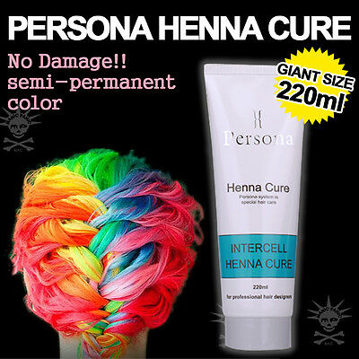 Semi-Permanent Hair Color Dye Persona Intercell Henna Cure  7.8 oz Big SIZE