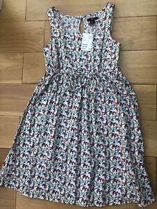 Nuevo-H-amp-m-Talla-8-Reino-Unido-EU-34-bonito-vestido-floral-sin-mangas-de-verano-100-algodon