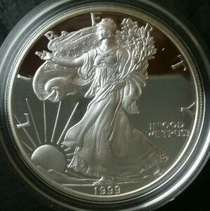 1999-P-Proof-1-American-Silver-Eagle-Dollar