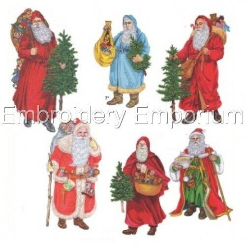 MACHINE EMBROIDERY DESIGNS ON CD OR USB SANTA CLAUS 3 COLLECTION