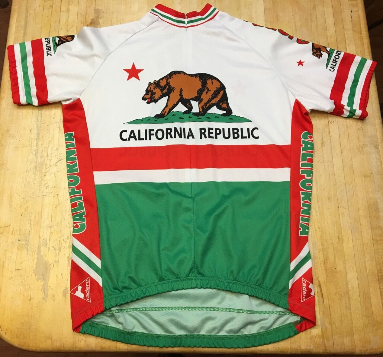 Unisex Flag Radere California Republic Flag Unisex Short Sleeve Cycling Jersey 2XL 20d9a3