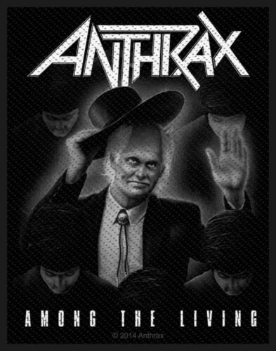 AMONG THE LIVING NEW SEW ON PATCH OFFICIAL BAND MERCHANDISE ANTHRAX