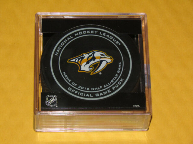 NASHVILLE PREDATORS 2015-2016 OFFICIAL GAME PUCK NEW Home of the All-Star Game