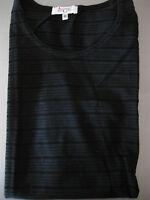 Bluse, Shirt, Achselshirt Gr. 48, Allison WinCate, schwarz, Streifen, geschlitzt