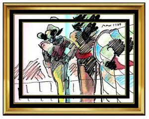 Details About Peter Max All Original Painting Pop Art Profiles Watercolor Signed Pop Art Rare