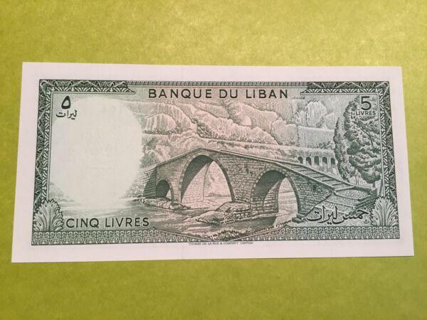 DéTerminé Billet Neuf Banque Du Liban De 5 Livres