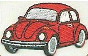 Rouge Beetle Voiture Véhicule Revers Gauche Brodé à Repasser à Coudre Patch