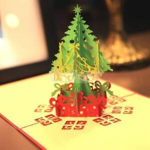 la imagen se est cargando tarjeta de navidad 3d arbol de navidad y - Tarjeta De Navidad En 3d
