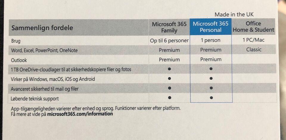 Microsoft 365 personal, Microsoft Office