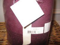 Sferra Plush Throw Blanket Merlot Wine Burgundy