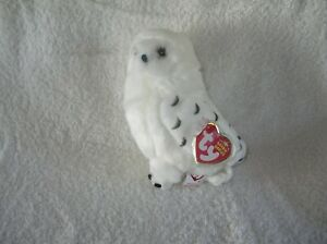 TY Beanie Babies -  SNOWDROP the Snowy Owl (Internet Exclusive) (5.5 inch) RARE