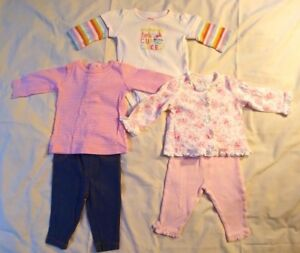 Carter's Girls Lot of Two Outfits Plus One Top Size 3 Months